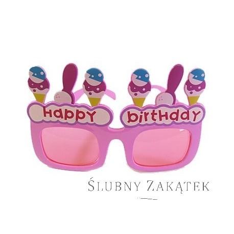 """Okulary """"Happy Birthday"""""""