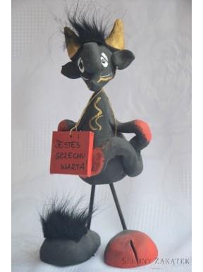 Figurka Diabełek z tabliczką