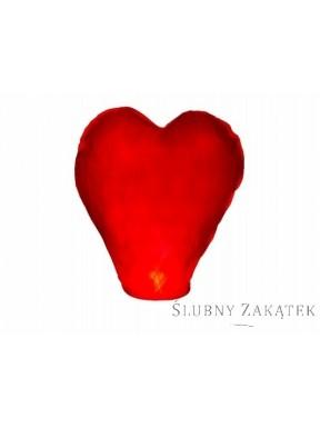 LAMPION LATAJĄCY Serce Czerwone, małe