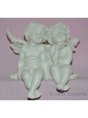 Para aniołków siedząca