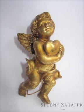 FIGURKA Aniołek, złoty
