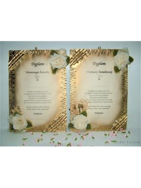 Dyplomy dla Świadków Złote - zestaw
