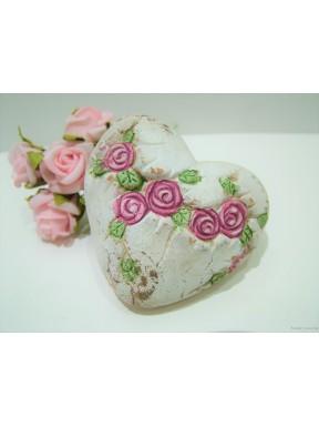 Serce z różyczkami małe