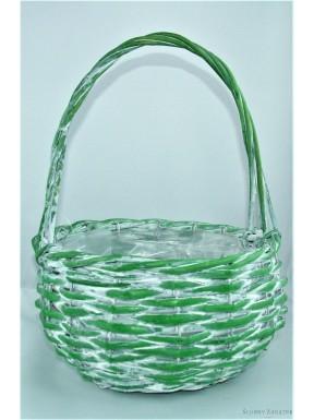 Koszyk wiklinowy zielony