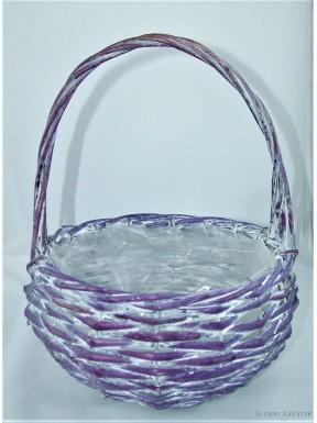 Koszyk wiklinowy fioletowy