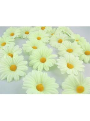 Kwiatki kremowo-limonkowe