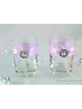 Kieliszki do wódki z rozetką fiolet