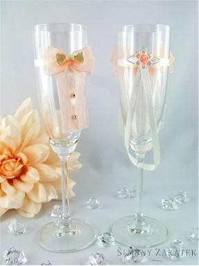 Kieliszki do szampana TANGO łosoś
