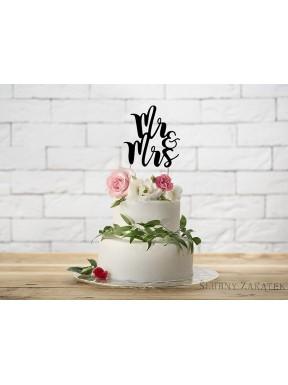 Napis na tort MR & MRS