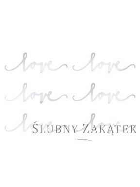Dekoracja Love, srebrny