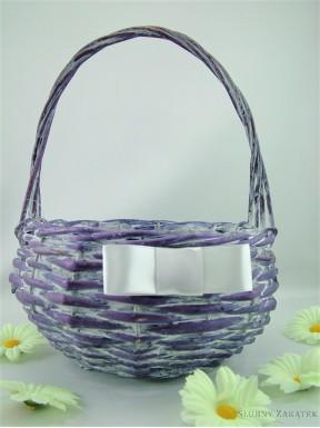 Koszyczek wiklinowy fioletowy