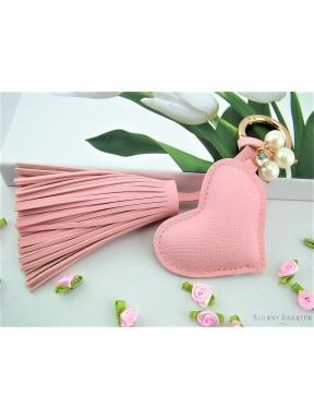 Brelok do kluczy SERCE, różowy