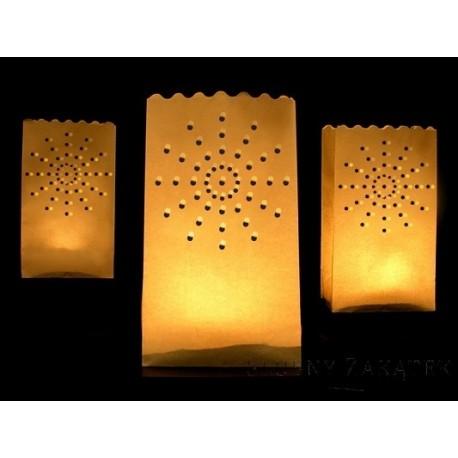 Lampiony torebki na świece SŁOŃCE