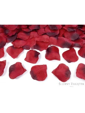 Patki róż, czerwono - bordowe