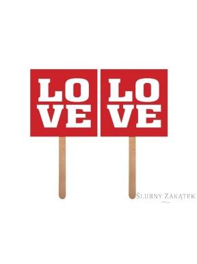 Karteczki na patyczku LOVE