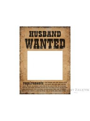 Tabliczki HUSBAND WANTED i WIFE WANTED