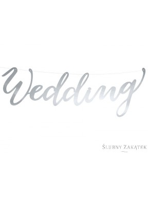 "BANER ""Wedding"", srebrny"