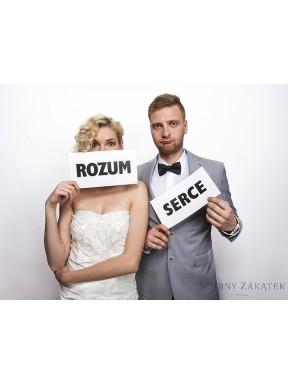 """TABLICZKI DO ZDJĘĆ """"Serce Rozum"""""""