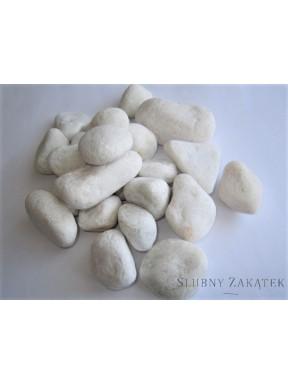 Kamienie do dekoracji, białe małe