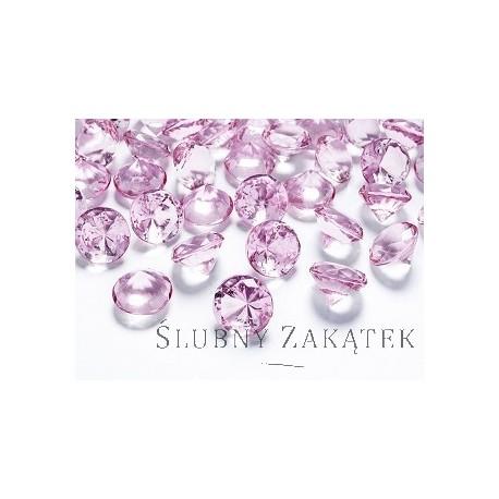 Diamentowe konfetti jasno różowe, 10 szt