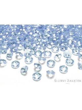 Diamentowe konfetti błękitne, 10 szt