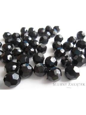 Koraliki do dekoracji, czarne 10 mm