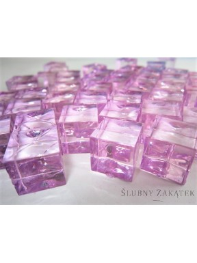 Kryształki kwadratowe, różowe
