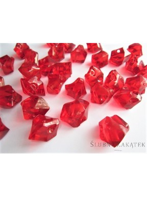 Kryształki duże, czerwone