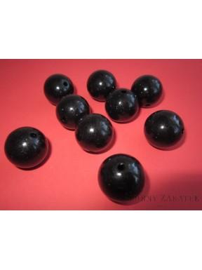 Perełki do dekoracji, czarne 18 mm