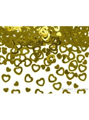 Konfetti serca złote