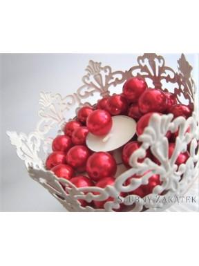 Perełki do dekoracji, czerwone