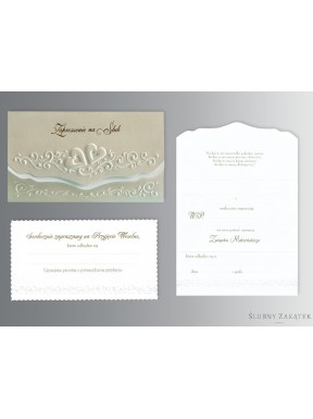 Zaproszenie na ślub DWA SERCA