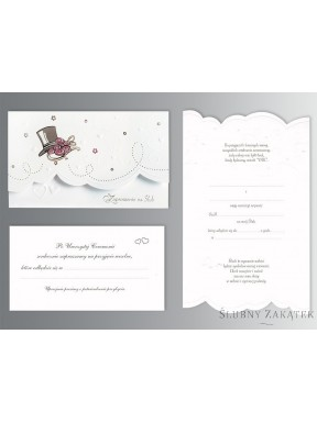 Zaproszenie na ślub ONA I ON