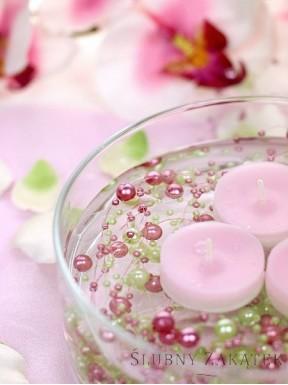 Girlanda perłowa, różowa