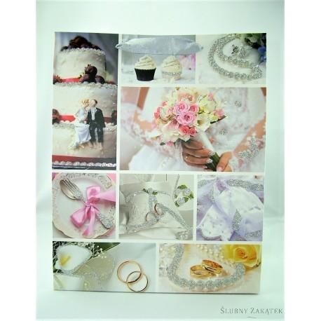 36b8729f70d7c5 TOREBKA NA PREZENTY ŚLUBNE- upominki na ślub, wesele, dekoracje ślubne