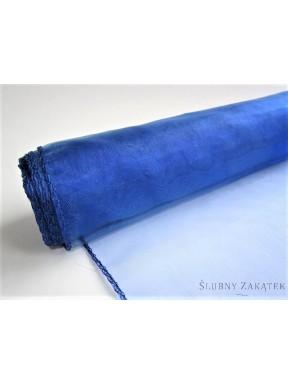 Organza obszywana 39 cm, c. niebieska
