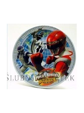 TALERZYKI PAPIEROWE Power Rangers, 23 cm