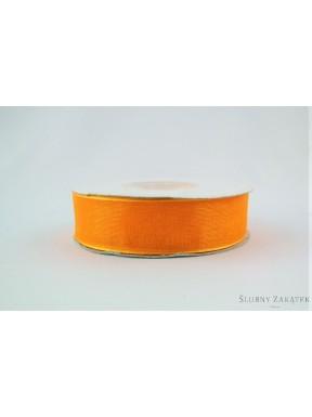 TASIEMKA Z ORGANZY 20 mm 25 y, pomarańczowa