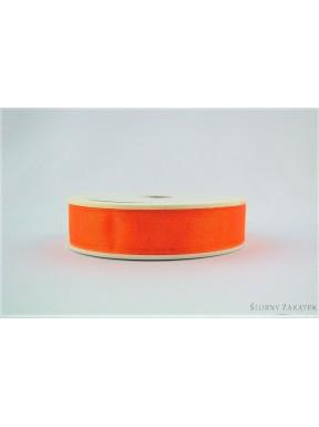 TASIEMKA Z ORGANZY 15 mm 10 y, pomarańczowa