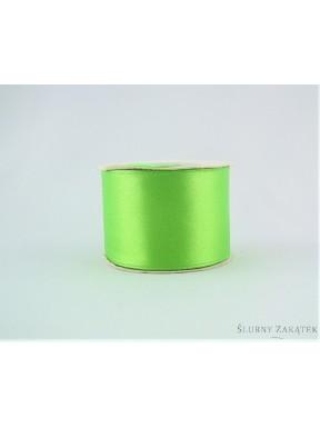 TASIEMKA ATŁASOWA 38 mm 10 y, zielona
