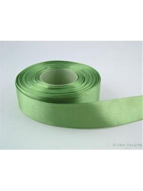 TASIEMKA SATYNOWA 25 mm 25 m, zielona