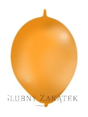 BALONY Z ŁĄCZNIKIEM, metalik pomarańczowe