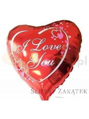 Balon foliowy Serce z napisem