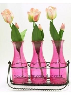 BUTELKI WAZONIKI Różowe