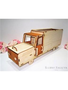 """Samochód drewniany Zbieram na wózek"""""""""""