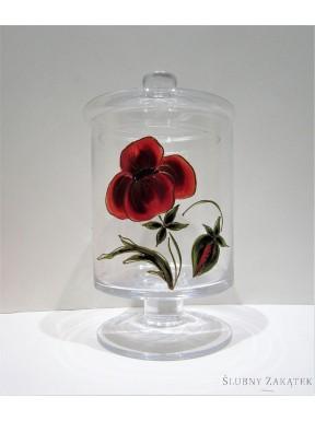 KIELICH SZKLANY Malowane Kwiaty