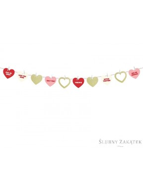 GIRLANDA PAPIEROWA Sweet Love