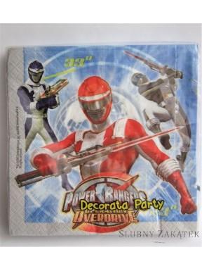 SERWETKI PAPIEROWE Power Rangers