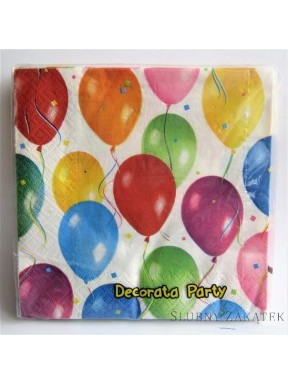 SERWETKI PAPIEROWE Baloniki Party