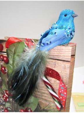 DEKORACJA Ptaszek turkusowy